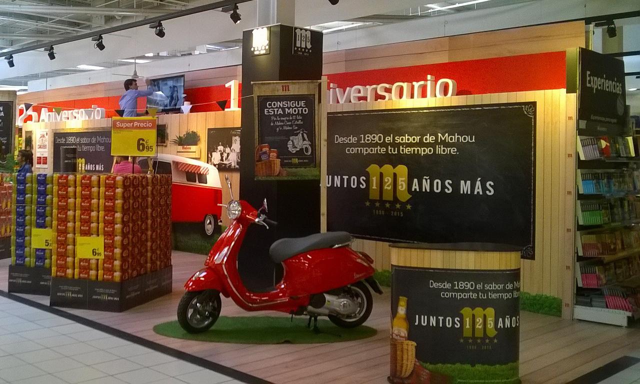 125 Aniversario Mahou Indigo retail plv