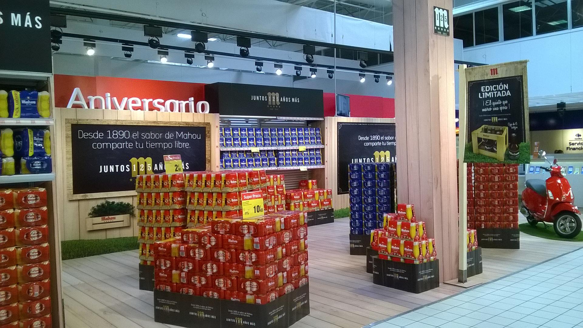 Mahou 125 aniversario supermercado Alcobendas