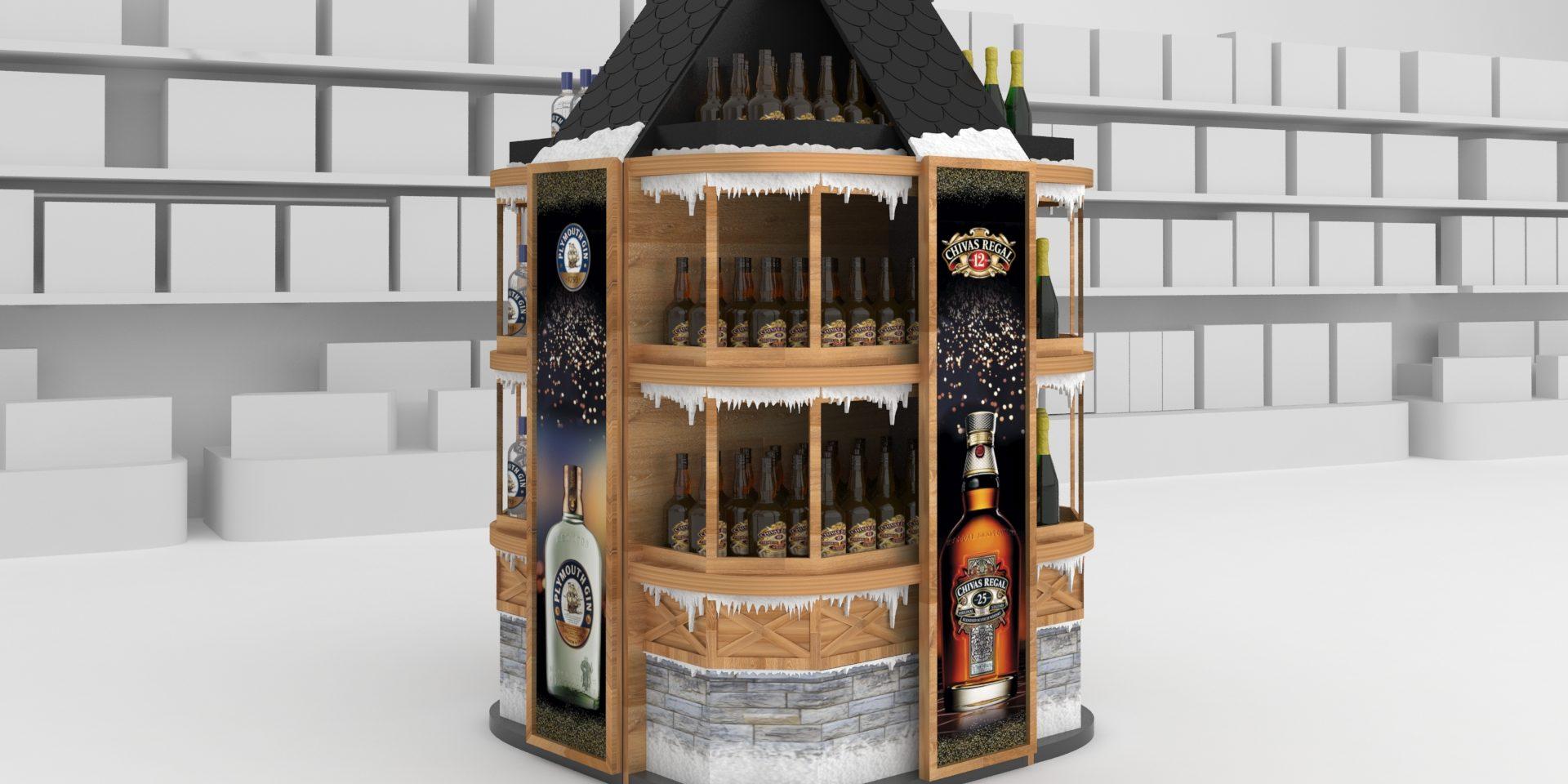 Navidad Pernod Ricard Indigo PLV