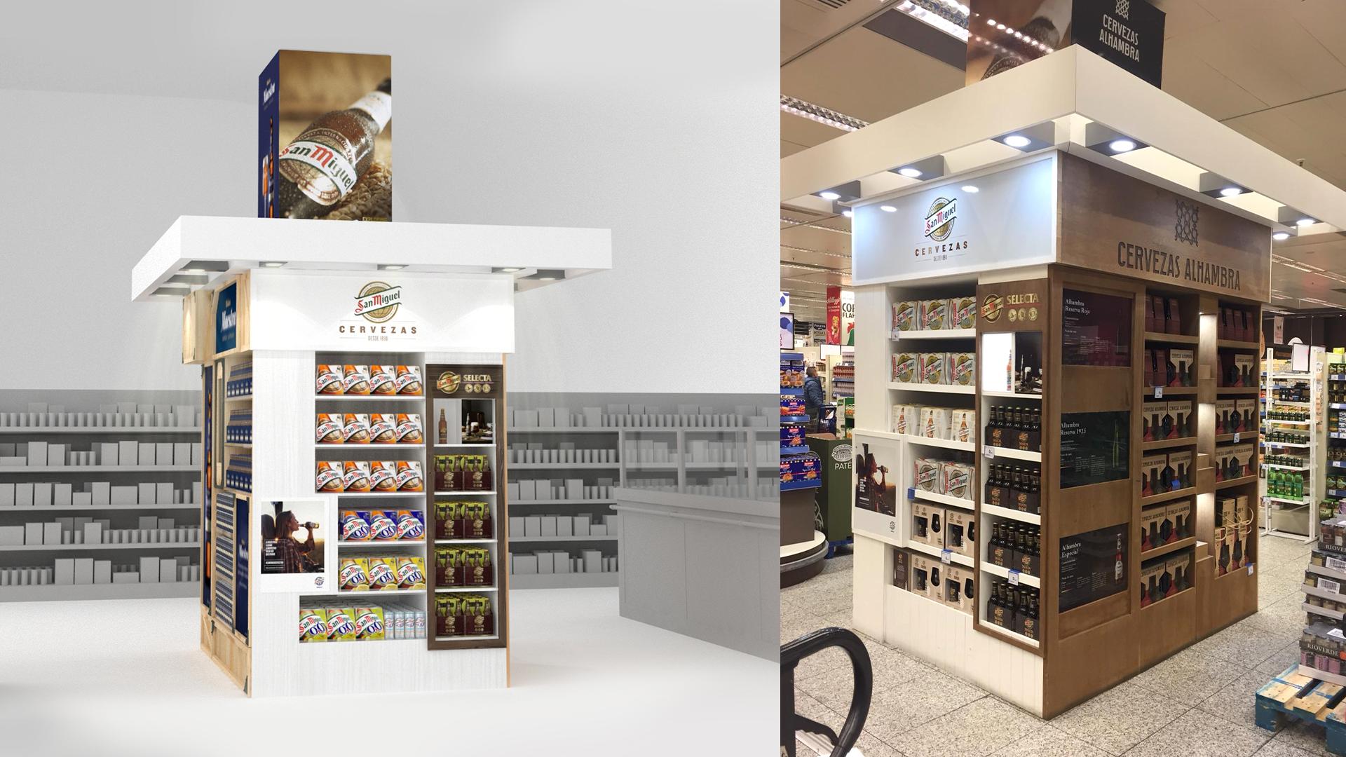 Columna San Miguel render supermercado Indigo