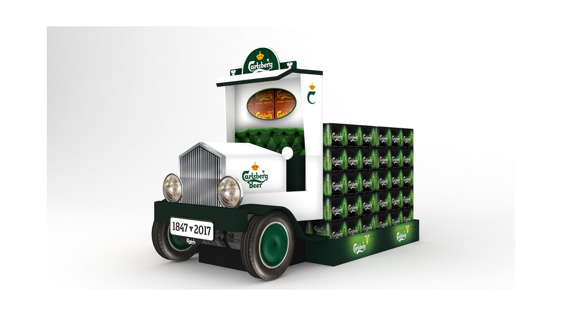 camión Carlsberg Indigo plv POPAI